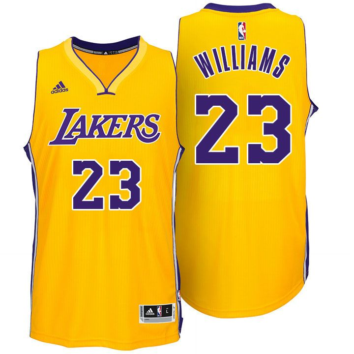 online store fa3d8 44fde Los Angeles Lakers #23 Lou Williams New Gold Jersey ...