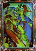 Wassily Kandinsky.  Jinete del Apocalipsis, 1911