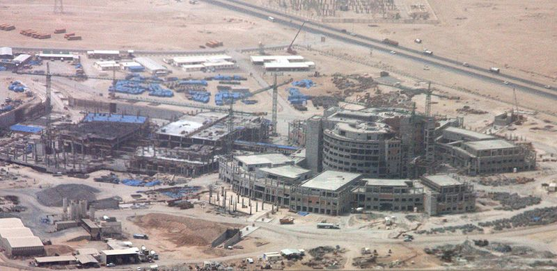 A hospital being constructed in Al Wakrah.