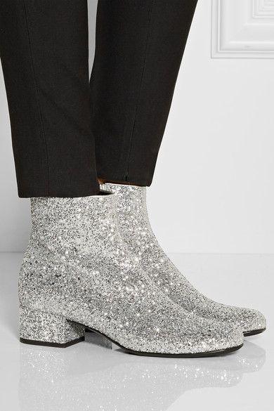 1b90fc43591 Saint Laurent glitter boots... Oh wow! | shoes | Shoes, Glitter ...