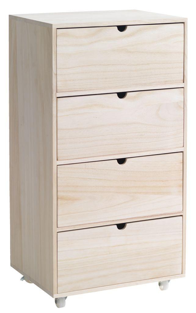 Ikea Brusali Kommode kommode ilbro 4 skuffer natur jysk jysk