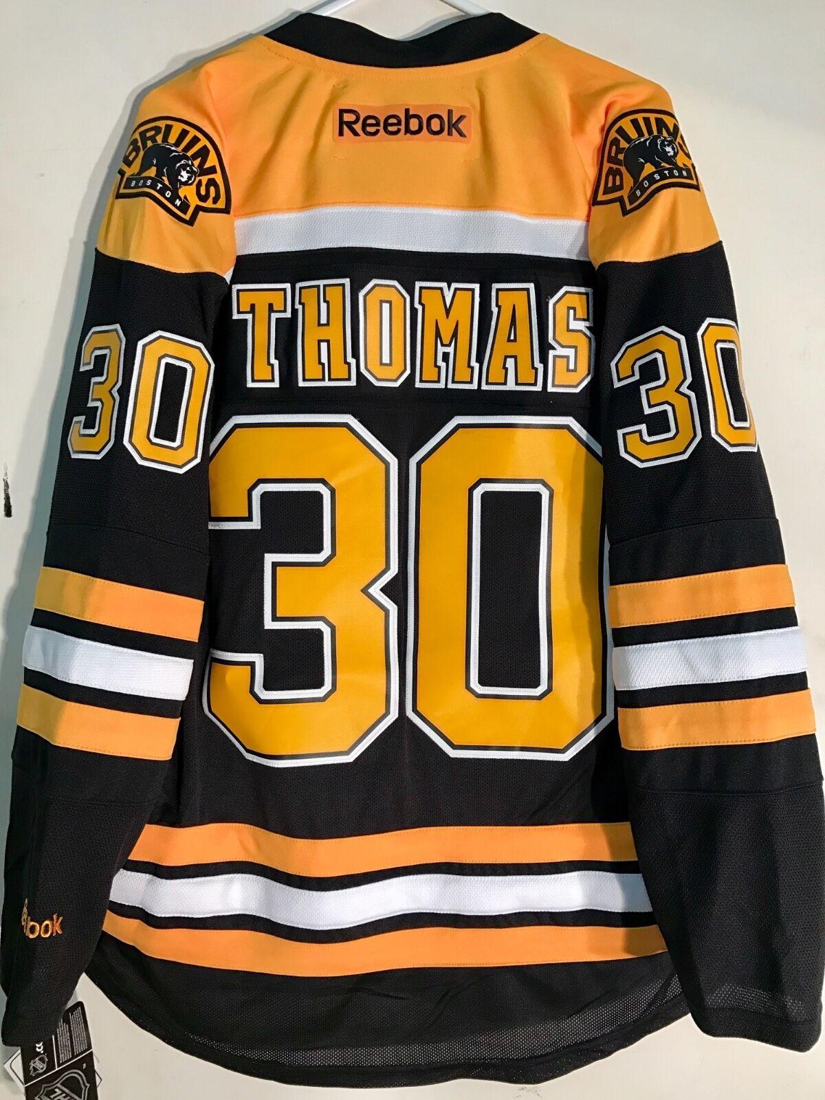 273c3b8cc52 Details about Reebok Premier NHL Jersey Boston Bruins Tim Thomas ...