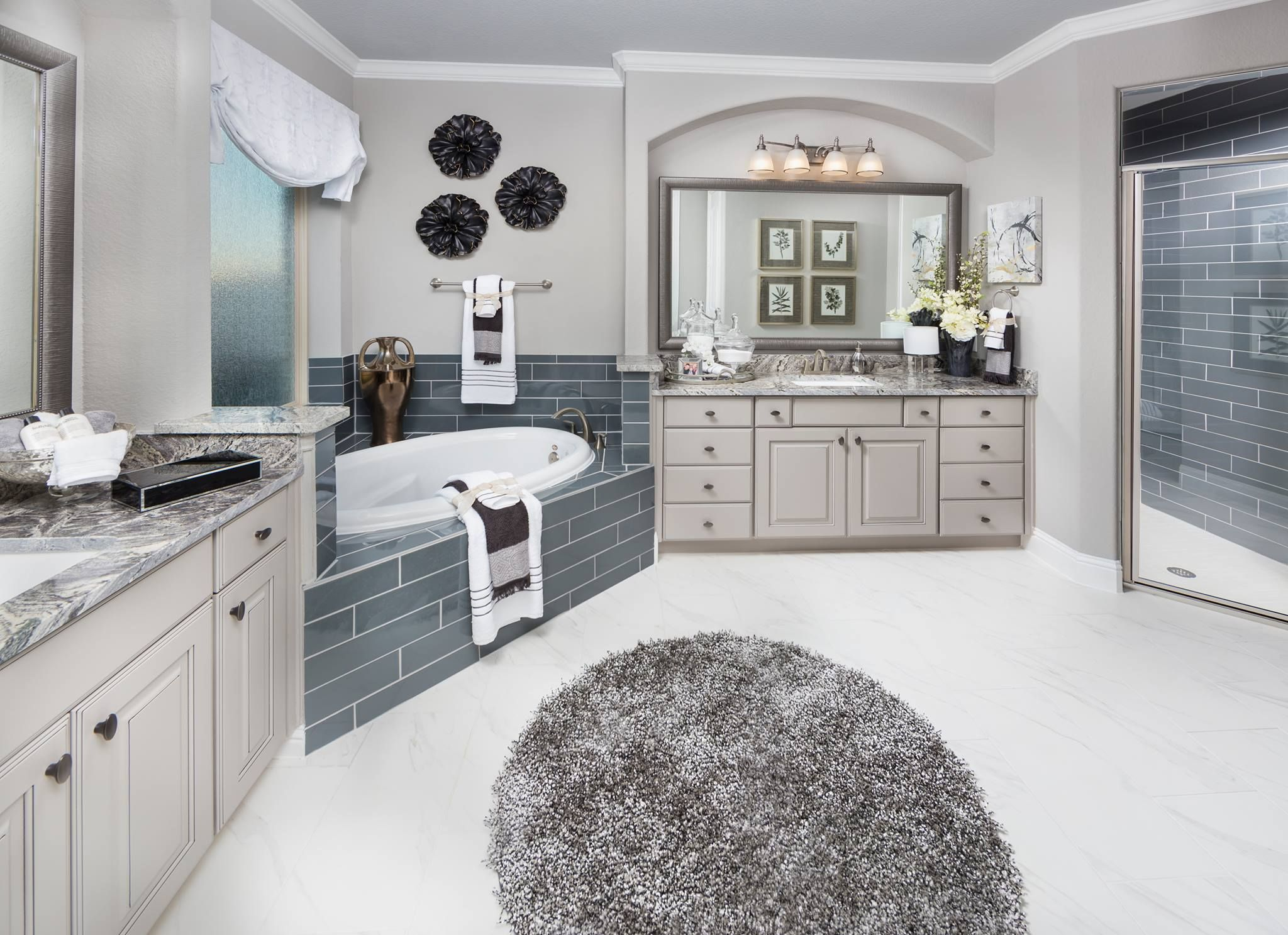 Are you OK with all of the GRAY in this luxurious bathroom