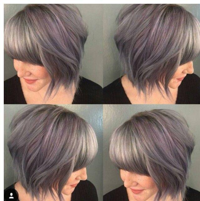 Shag Bob Graue Haare Haarschnitt Kurz Haarschnitt