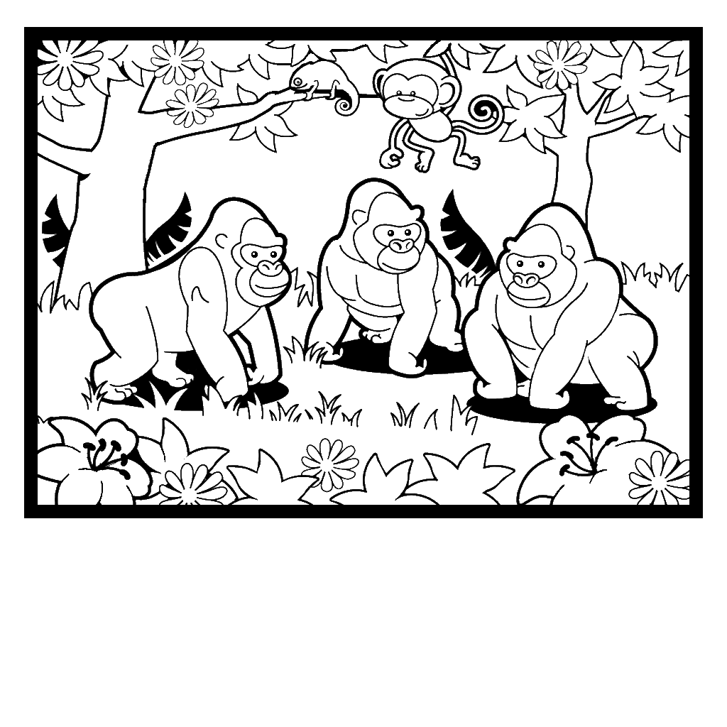 Zoo colouring pages to print - Find This Pin And More On General Zoo Crafts Gorilla Coloring Pages