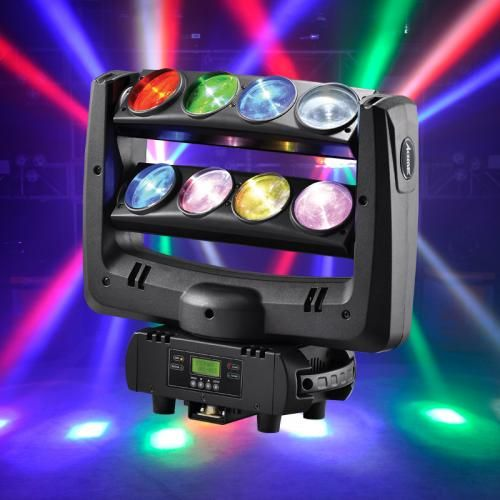 Acme Dragonfly Quad Moving Head Fixture With Sweeping Quad Led