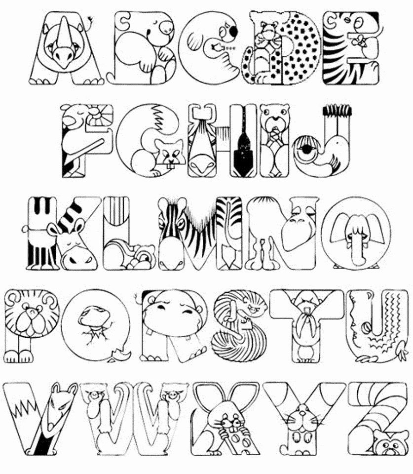 Alphabet Coloring Pages Preschoolers In 2020 Animal Coloring Pages Abc Coloring Pages Alphabet Coloring Pages