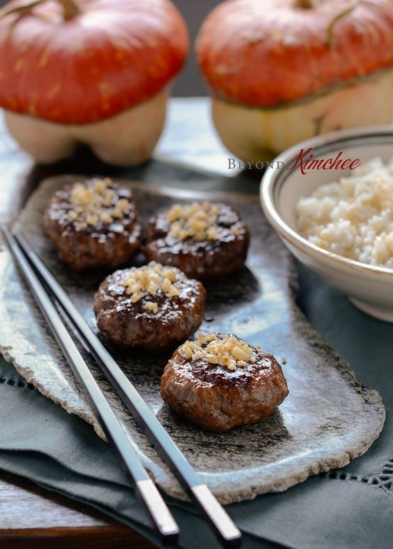 Korean Beef Patties - tteokkalbi