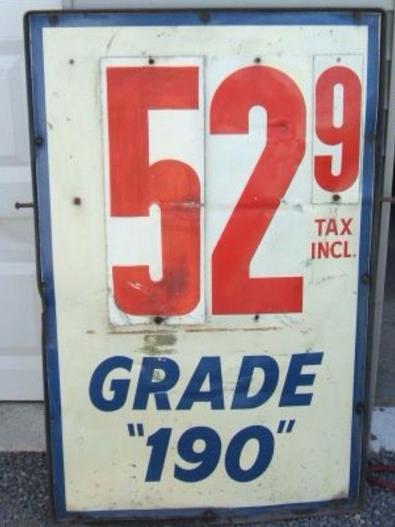 Vintage Gas Price Sign Retro Tin Signs Old Gas Stations Gas Prices