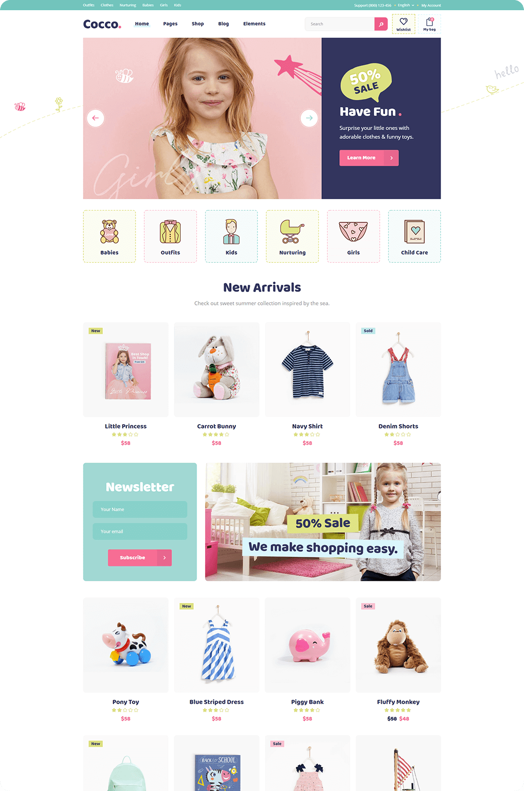 05c18d93e Cocco - A Kids Store and Baby Shop WooCommerce Theme
