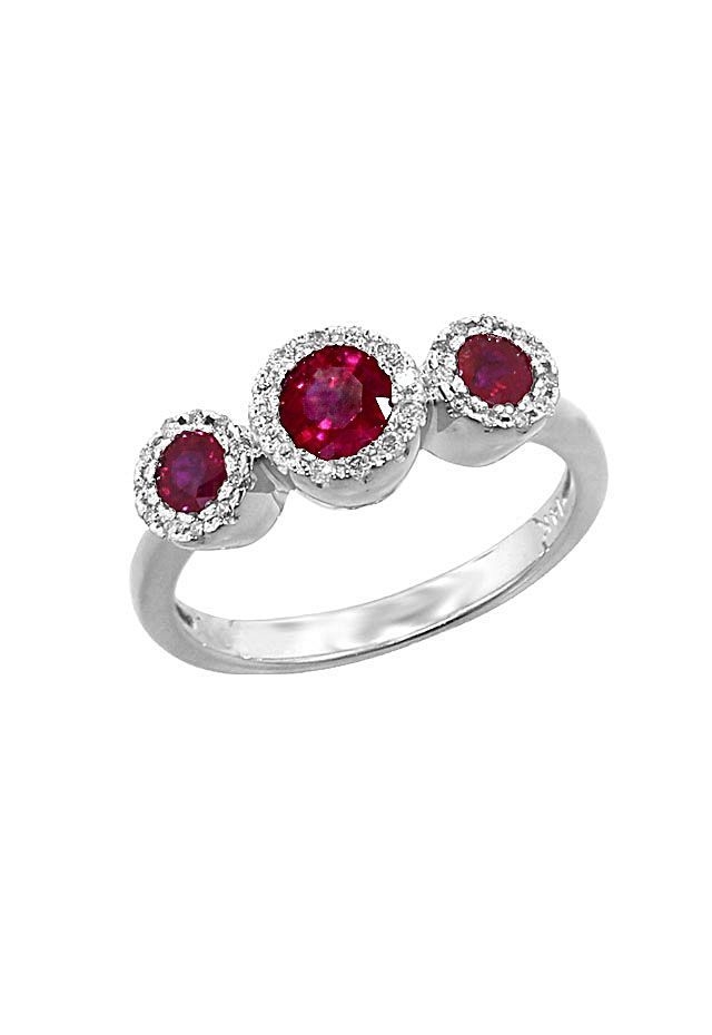 4b31d505d32b10 Effy Jewelry Gemma Diamond and Ruby Ring in 14k White Gold