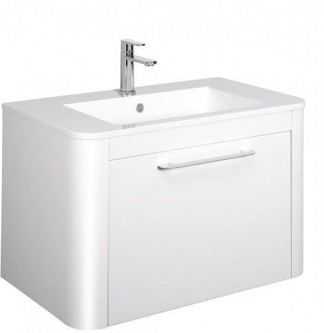 Bauhuas Celeste 80 Ceramic Basin Basin white, Bathroom
