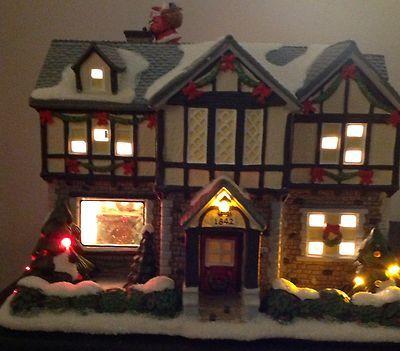 St Nicholas Christmas Village.Kohl S St Nicholas Square Christmas Village Tudor House Ebay