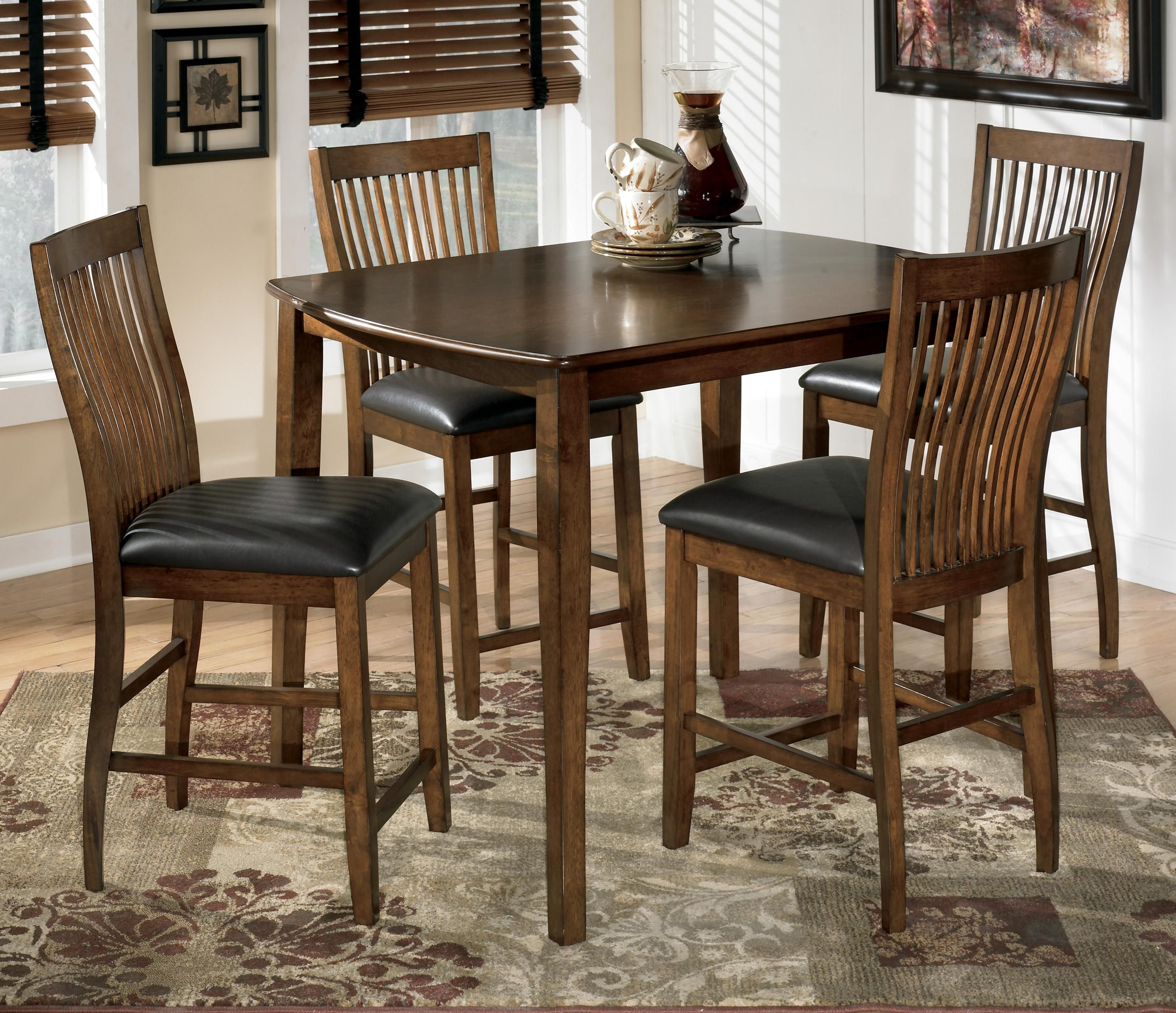 Stuman 5 Piece Rectangular Dining Room Counter Table Set By