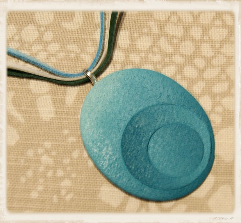 Riipus, vihreä ovali  - Polymerclay by KVJ