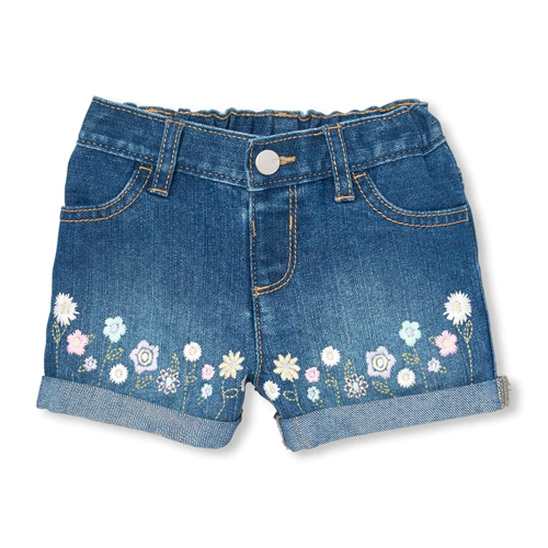The Childrens Place Baby Girls Denim Shorts