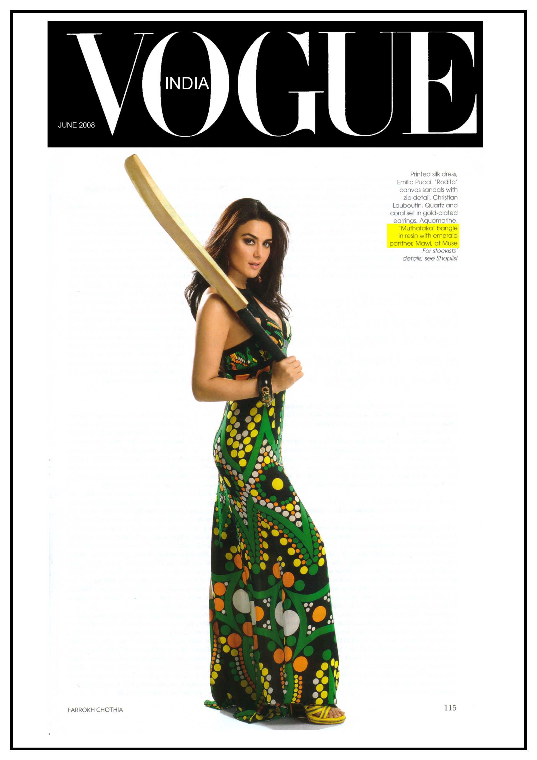 Sorry. A Cricket Bat is not just a pretty accessory! This feature in Vogue 94f6ca01f8d0