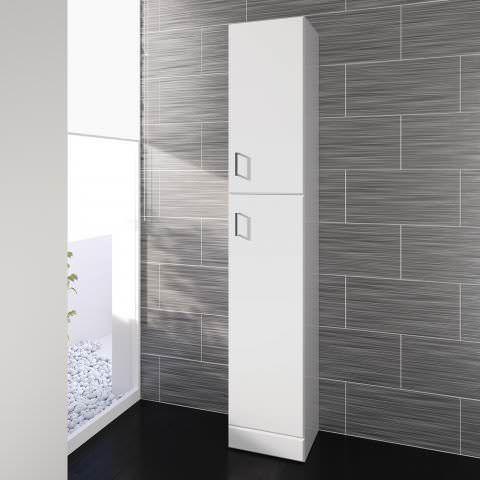 Super 1900X330Mm Quartz Gloss White Tall Storage Cabinet Floor Home Interior And Landscaping Oversignezvosmurscom
