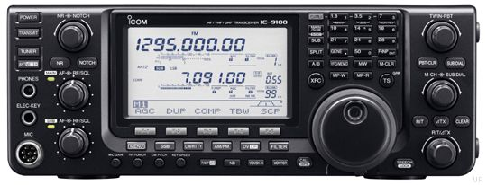 The Icom IC-9100 is a great HF/VHF/UHF radio for the amateur