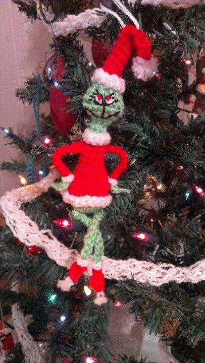Amigurumi Grinch Ornament | Cute little things :) | Pinterest