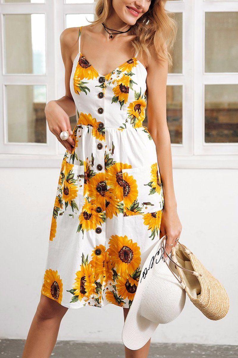 Sunflower Sundress Moda Looks Roupas [ 1200 x 800 Pixel ]
