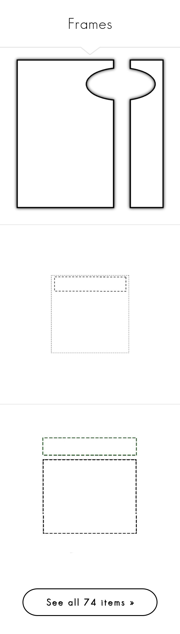 """""""Frames"""" by rasa-j ❤ liked on Polyvore featuring frames, backgrounds, borders, shadows, ramki, effect, picture frame, fillers, tip outlines and outlines"""