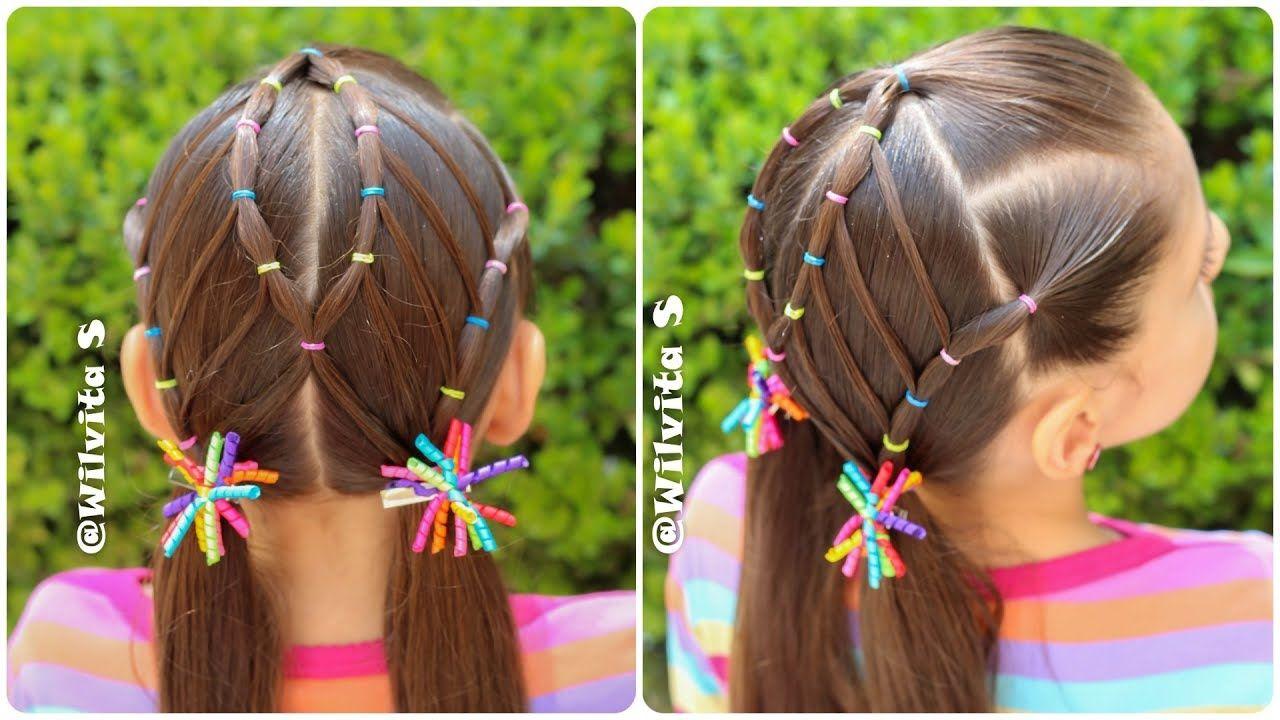 Peinado Para Niñas Con Ligas Para La Escuela Peinados Fáciles Wilvita Peinados Para Niñas Peinados Para Chicas Pelo De Niña Pequeña