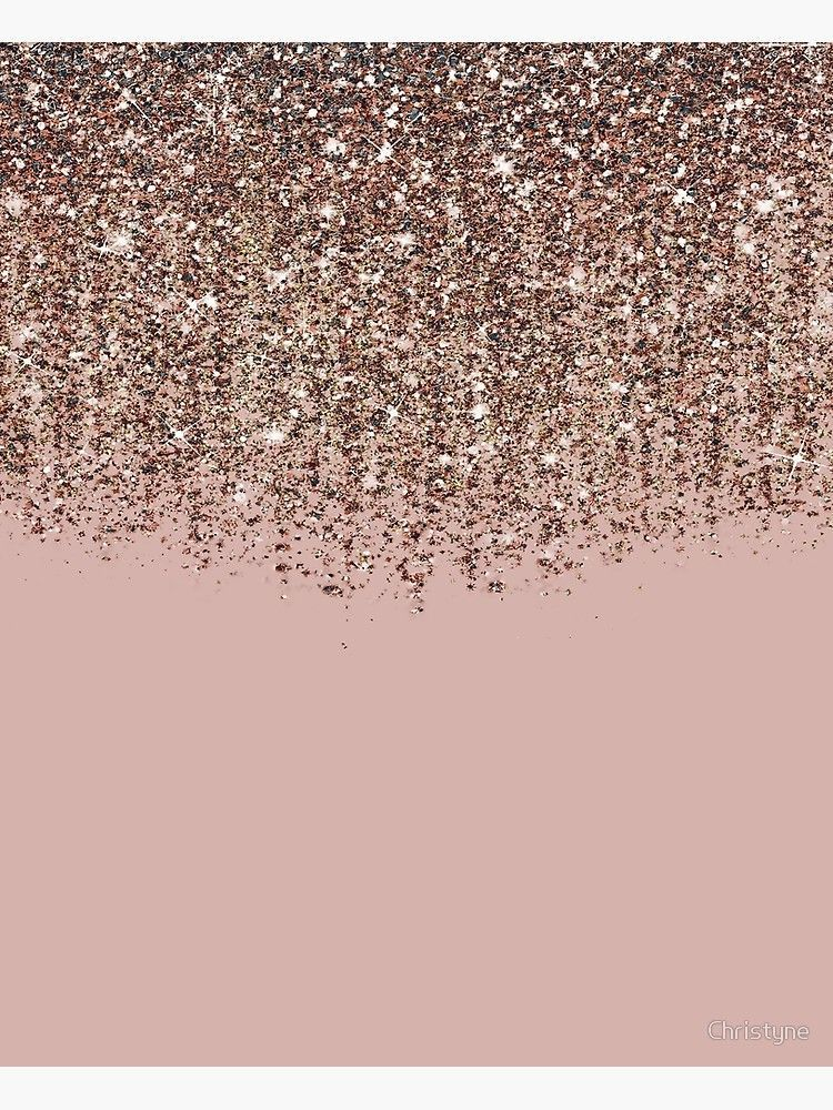 'Blush Pink Rose Gold Bronze Cascading Glitter' Canvas Print by Christyne