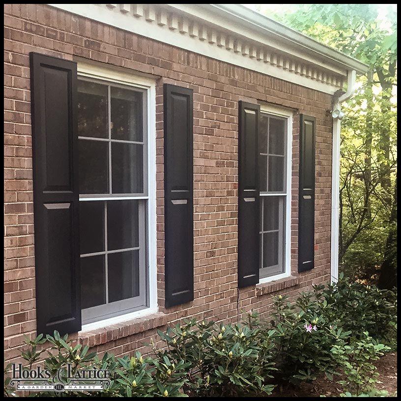 Cedar Raised Panel Exterior Shutters Barkalow Home