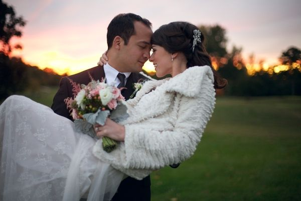 bride and groom, modern pink and white wedding, romantic fall wedding, Live View Studios