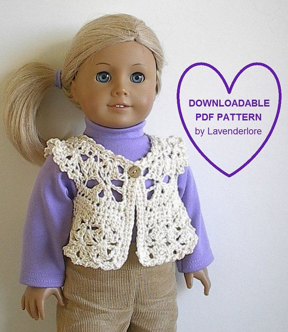Crochet American Girl Doll Pattern by Lavenderlore for 18\