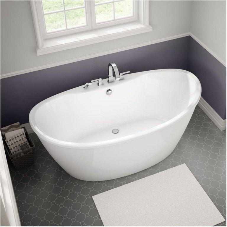 Maax 60 X 32 X 27 Delsia White Fibreglass Freestand Oval White Bath Tub With Apron Home Hardware With Images Free Standing Bath Tub Soaking Bathtubs Refinish Bathtub