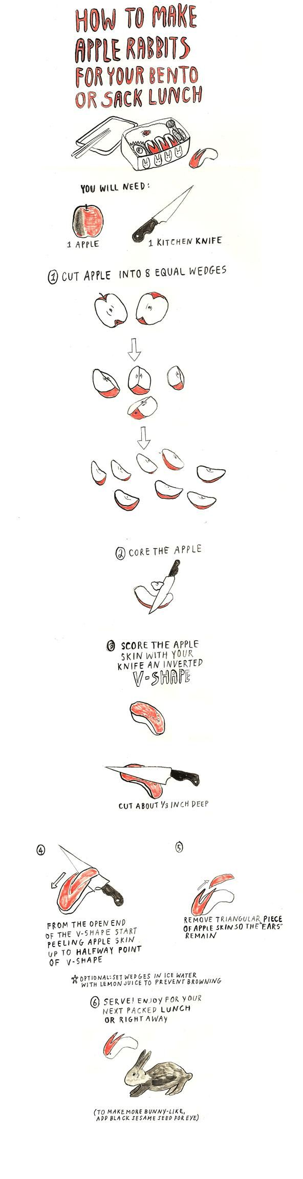 How to Make Apple Rabbits by thesecretyumiverse