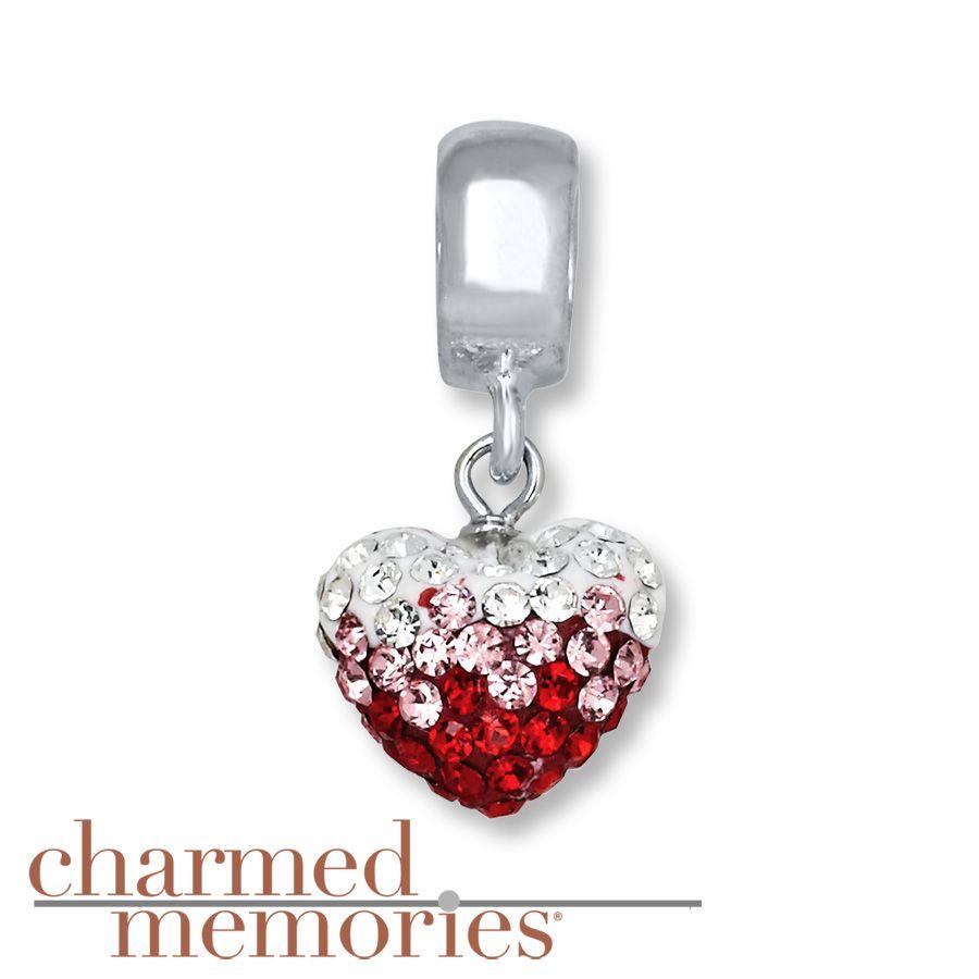 Harmed Memories Swarovski Elements Charm Sterling Silver Pandora Bracelet Charmscharm Braceletsheart Charmkay Jewelerscharmedswarovski