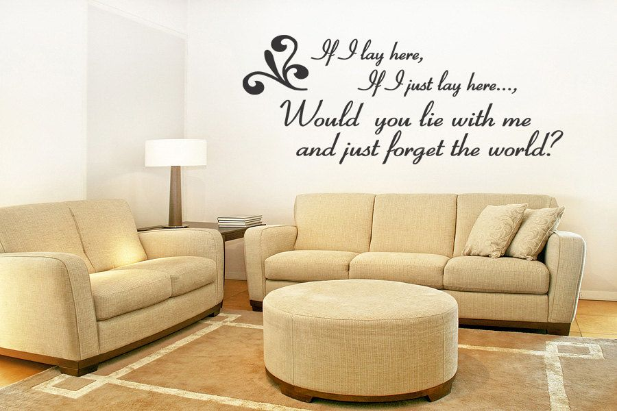 Snow Patrol Wall Quote Wall Decal Vinyl Art Sticker Wall Quotes ...