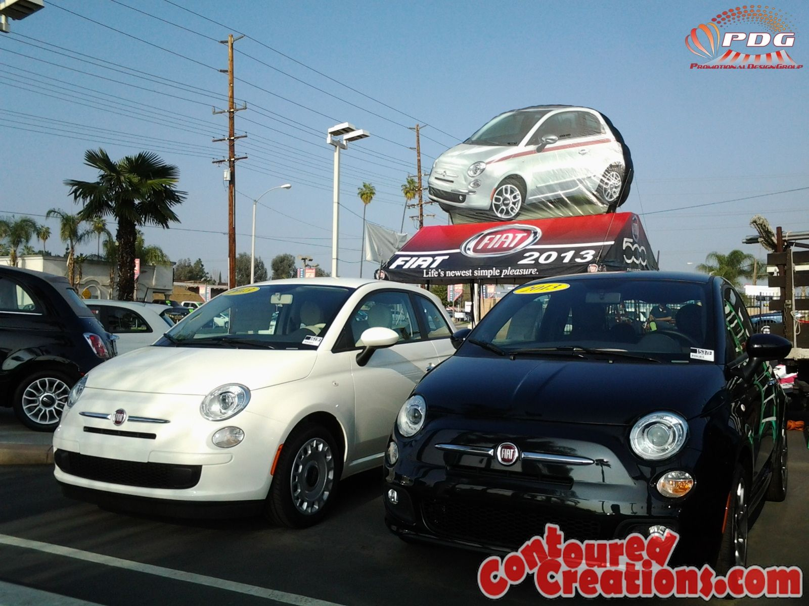 Giant Inflatable Car Fiat 500 Riverside Fiat Giant