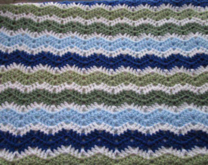 Easy Crochet Blanket Pattern Gentle Waves Crochet Blanket Crochet