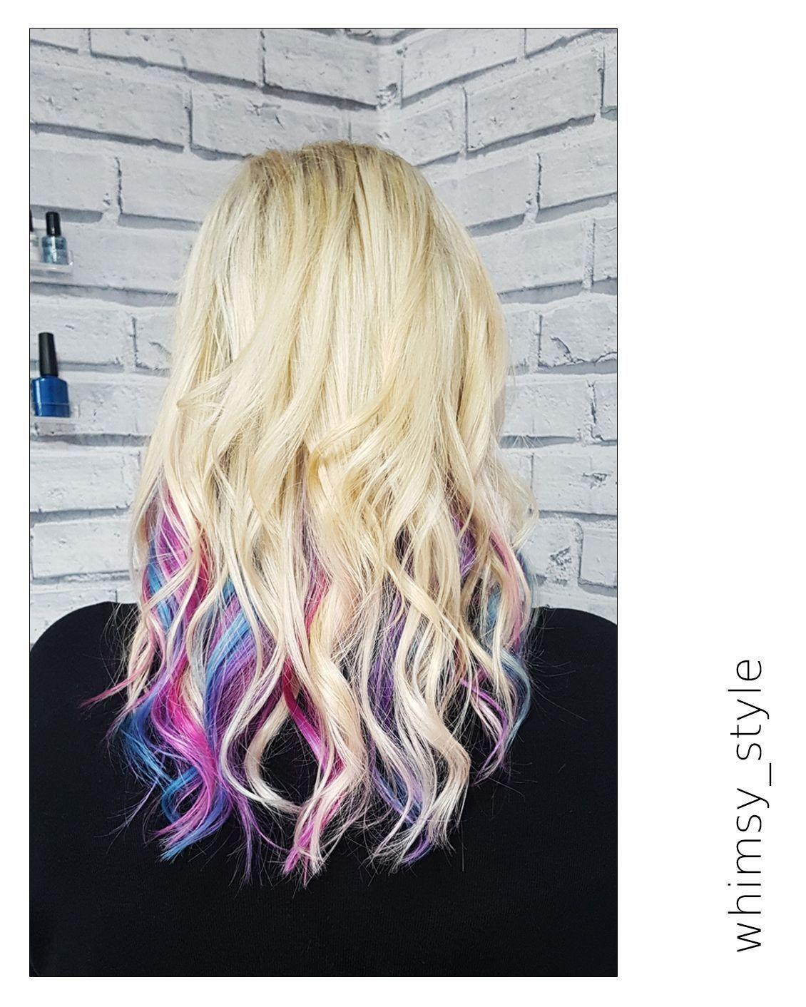 Secret Unicorn Flashes Underneath Colors Blue Purple Pink