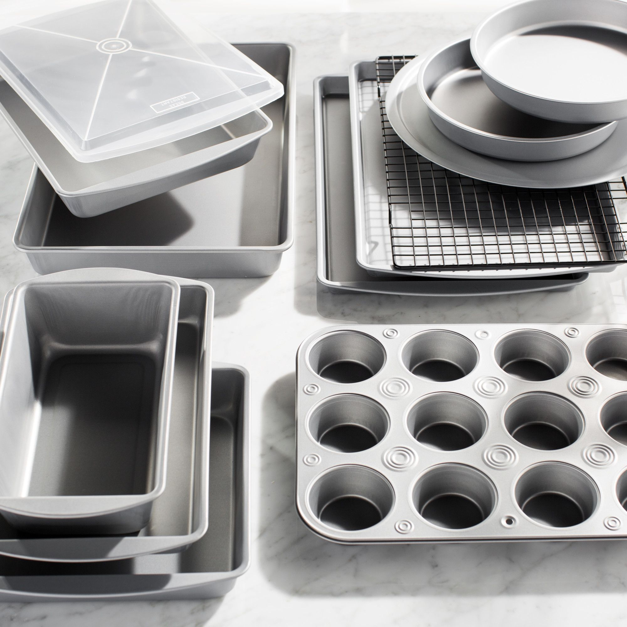13 Piece Nonstick Bakeware Set Bakeware Tiered Stand Food
