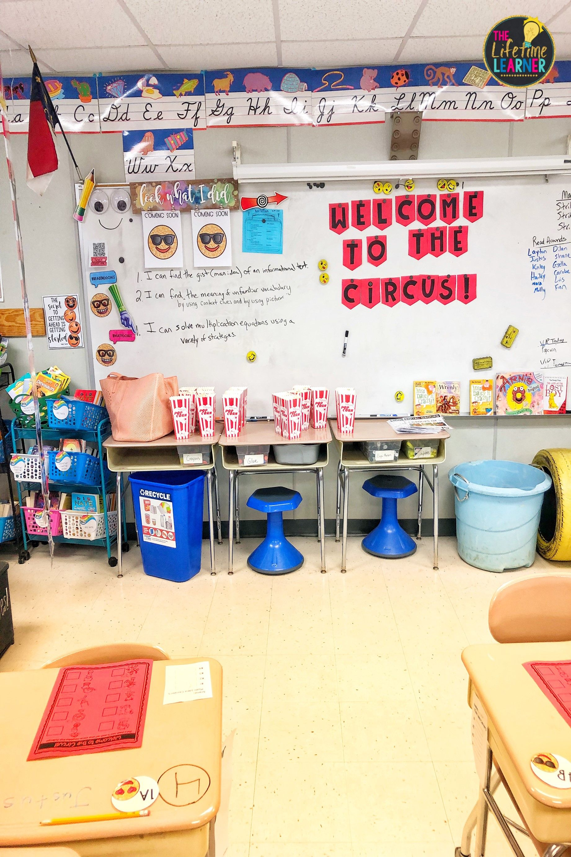 Check Out This Fun Circus Classroom Transformation For 3rd
