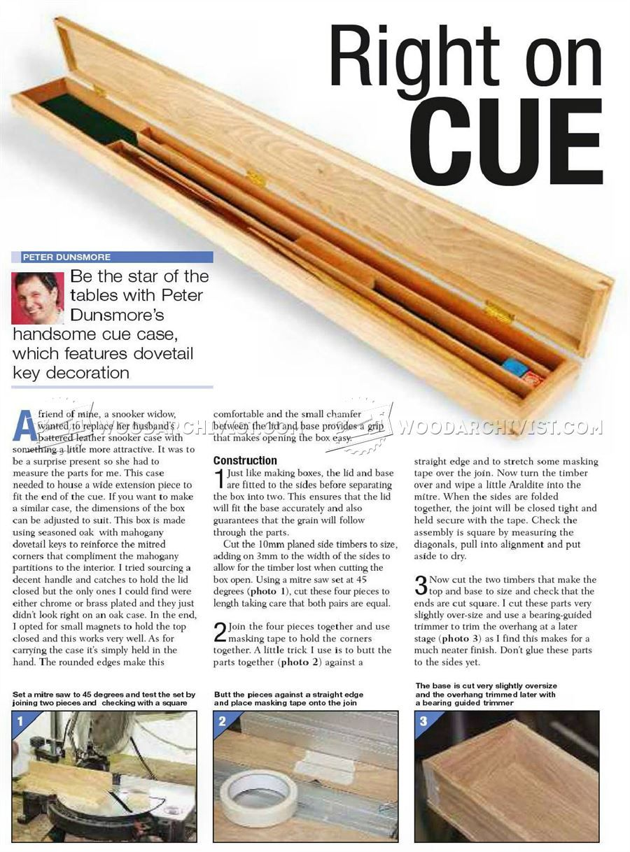 594 Cue Case Plans Woodworking Plans Cue Cases Woodworking Cool Woodworking Projects