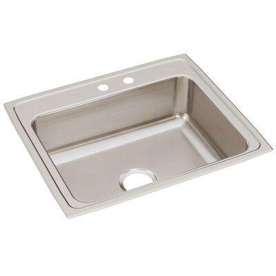 Elkay Lustertone 25 L X 21 W Drop In Kitchen Sink Faucet