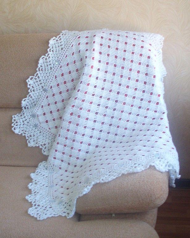 плед вязаный для | плед | Baby Blanket Crochet, Crochet ...