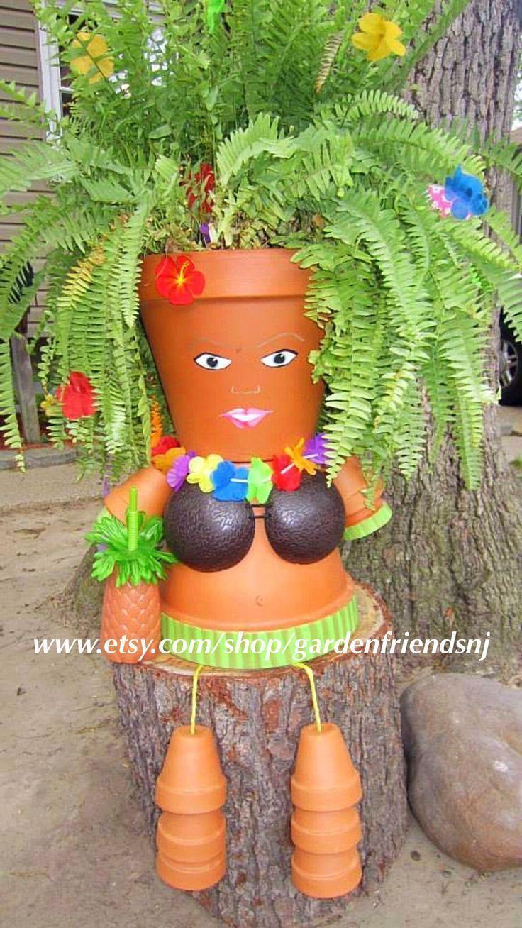 Person Flower Pot People Tontöpfe Tiki Partydekorationen syc  Luau Pot Person Flower Pot People Tontöpfe Tiki Partydekorationen syc  Luau Pot Person Flower Pot...