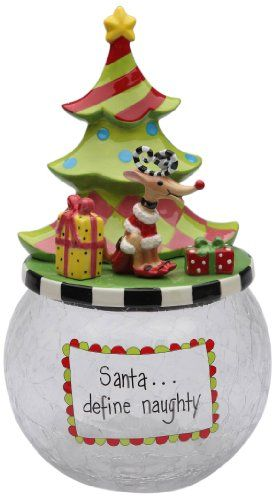 Appletree Design 62671 Cookie Jar With Seasonal Design Ceramic Glass 6 By 10 5 8 By 6 Inch Christmas Ornaments Top Brands Artists Designer Names Cookie Jars Vintage Christmas Cookie Jars Cookie Jars