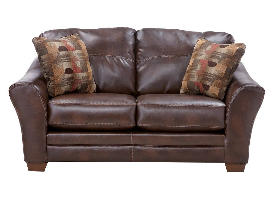 Terrific Slumberland Brockport Collection Brown Loveseat My Pabps2019 Chair Design Images Pabps2019Com