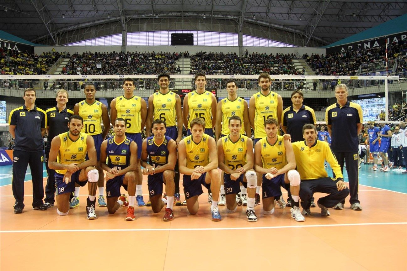Brazil Teambrazil The Brazilian Men S Team Go Into The 2014 World Championship With High Expectations A Brazilian Men Brazil Volleyball Team Volleyball Team