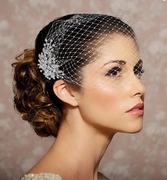 13 wedding Veils birdcage ideas
