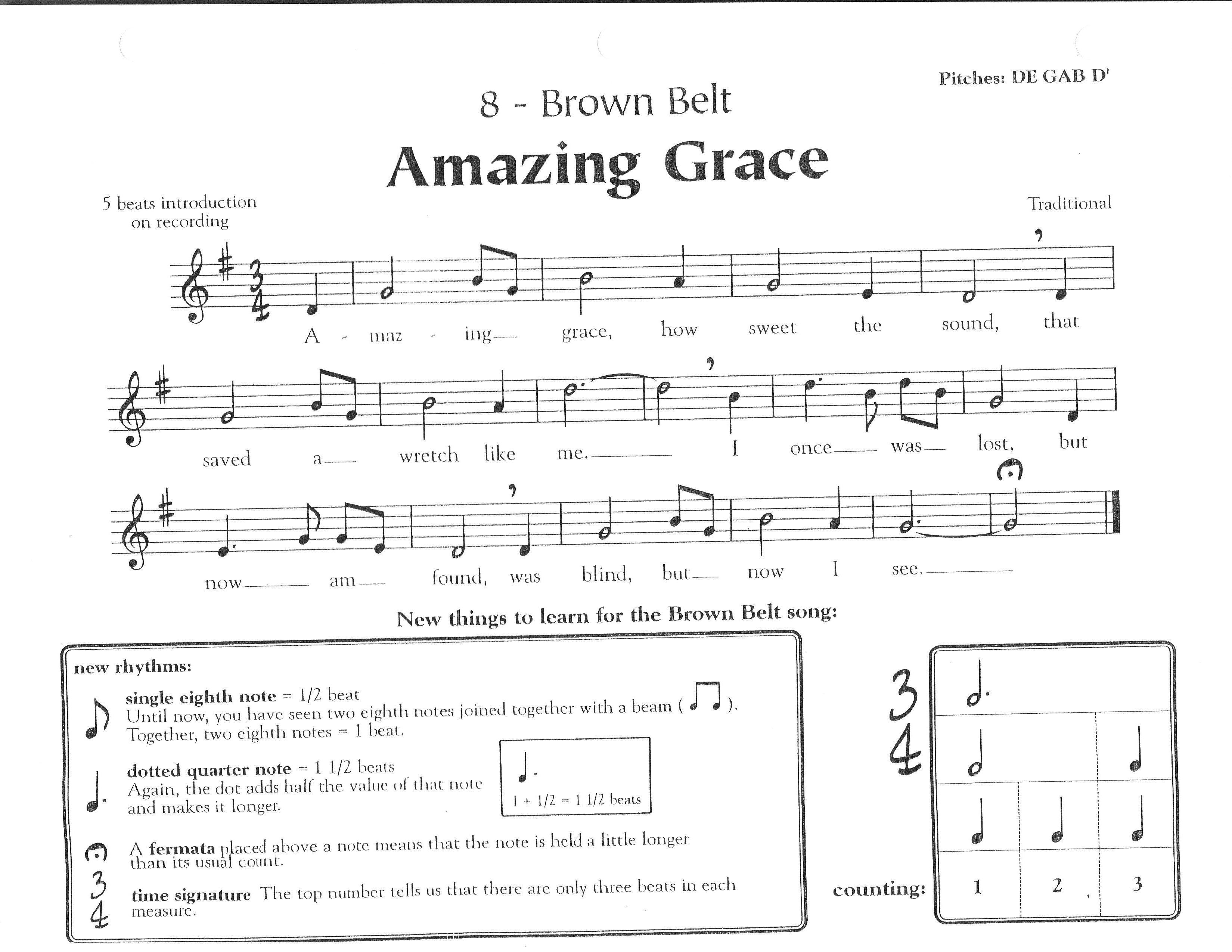 Amazing grace - Recorder