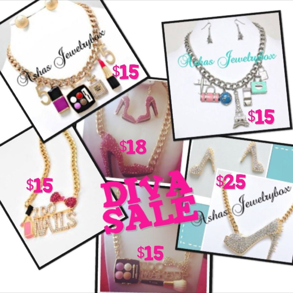 Diva Sale over 20 pieces marked down www.shopajb.com go to the tab diva sale on our website
